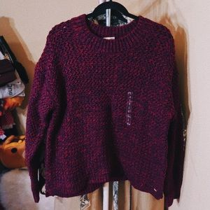 Multi-Colour Knit Cable Sweater